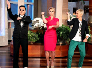 Britney Learns Gangnam Style from Psy meme