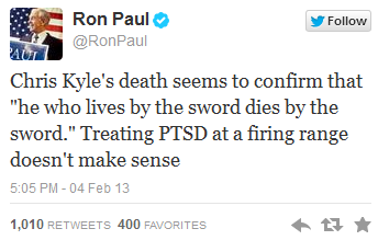 ron paul tweet
