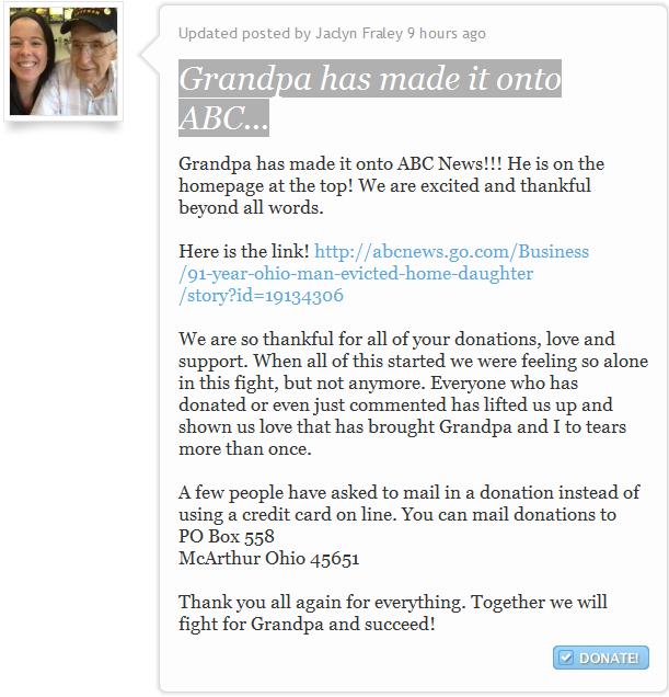 Grandpa has made it onto ABC...